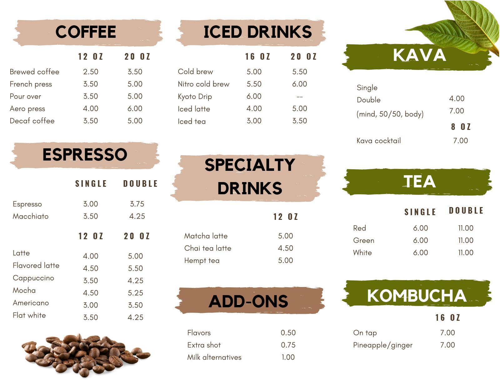 driftwood menu side 2